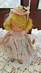 Nasb Vintage Bisque Doll, Little Bo Peep 153, Pudgy Tummy Doll