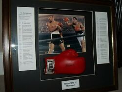 Muhammad Ali 100 Authentic Signed Boxing Glove, Framed With Coa