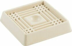 Shepherd Hardware 9166 2-inch Square Rubber Furniture Cups 4-pack