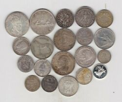 200.95 Grams Of World Foreign Silver Content Coins Used To Near Mint Condition