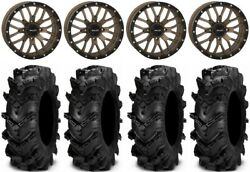 System 3 St-3 Bronze 18 Wheels 34 Cryptid Tires Rzr Xp 1000 / Pro Xp