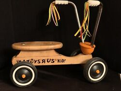 Toys R Us Vintage Wooden Ride-on Bicycle Toy Child-size