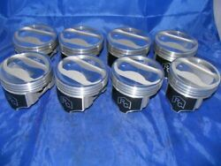 Eutectic Coated Dish Top Pistons Set/8+rings For Amc/jeep 401 +.030 9.51 Cr
