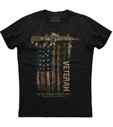 Veteran My Time In Uniform May Be Over Menand039s New Patriotic Black T-shirt
