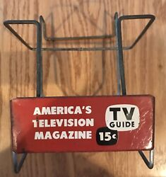 Vintage 1950s Tv Guide Magazine Table Top Rack Rare 15 Cent Cover