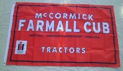 Farmall Cub International Harvester Tractor Flag 2and039 X 3and039 Banner A455