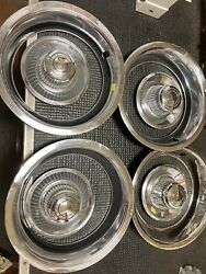 1968 - 76 Chevy Corvette Ss Oem Vintage Wheel Center Caps And Beauty Rings