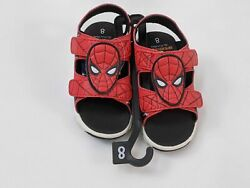 Marvel Spiderman Boys Sandal 8 Lighted Footwear Red
