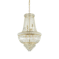 Chandelier Classic Gold With Crystals Dl0172