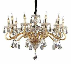 Chandelier Glass And Crystals 10 Lights Dl1544