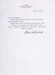 Charles A. Lindbergh 1902-74 Autograph Letter Signed 8x10 Switzerland July 1971