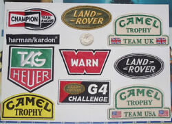 Land Rover Patch Embroidered 4x4 Badge Camel Trophy G4 Warn Mr0035