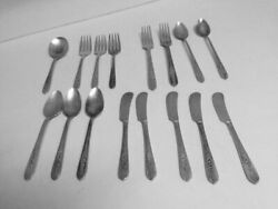 Vintage Silverware Nobility Plate - Royal Rose 1939 Silver Plate Lot Of 16