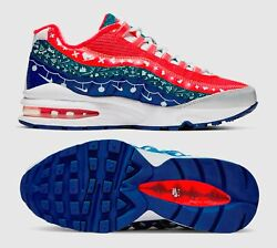 New Nike Air Max 95 Gs Youth/kids Shoes White/university Red Ct1593-100 Sz 7y