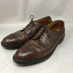 Vintage Hy-test Mens Size 13e Dress Wing Tip Safety Toe Brown Leather Shoes