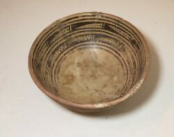 Antique Mayan Mexican Pre Columbian 400-600 A.d. Footed Bowl Pottery Sculpture