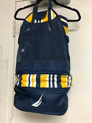 NWOT Nautica Insulated Beach Cooler Tote Collapsible Mesh Backpack $24.00