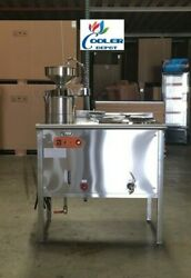 New Electric Soy Milk Maker Machine High Capacity Soybean Cooler Depot 220v 9kw