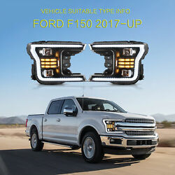 Led Sequential Headlight Corner Lamps For 2018 2019 2020 Ford F-150 Left And Right