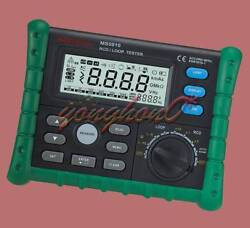 Circuit Breaker Rcd Loop Tester Meter Trip-out Time And Current V Freq Usb Ms5910