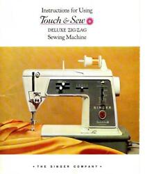 Singer Instructions And Manual For 600, 600e Sewing Machine Touch And Sew Cd Pdf