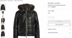 9495 Brunello Cucinelli Black Reversible Fox Fur-trim Quilted Leather Jacket