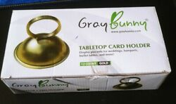 Gray Bunny Tabletop Card / Name Place Card Holders Gold Set Of 12