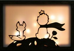 The Little And Fox Night Lamp - Wooden Light Box