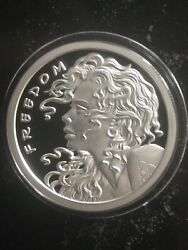 2013 1 Oz Sbss/silver Shield Freedom Girl Proof .999 Silver Round