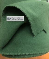 Loro Piana Cashmere Wool Fabric Green Coating Double 700g Italy 2.0 Meter