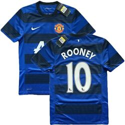 2011/12 Manchester United Away Jersey 10 Rooney Small Nike Red Devil New