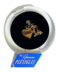 Vintage Plexiglass Acrylic Compax Compact Sailor Sweetheart Pinup Valentines Day