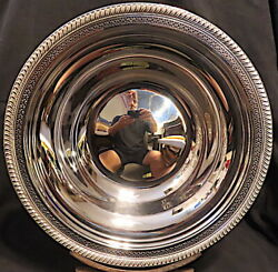 Top Quality Sterling 12 Dia. Bowl W/gadrooned And Pierced Edges M.fred Hirsch20and039s