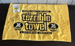 Pittsburgh Steelers Lamarr Woodley Autographed 75th Anniversary Terrible Towel
