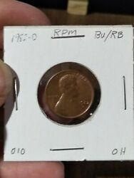 1982 D Lincoln Memorial Cent Error Repunched Mint Mark Bu Rb 010