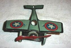 Rare Old Vintage Original Chein And Co Tin Wind Up Airplane W/no Wind-up 1920/30's