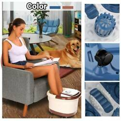 Foot Spa Bath Massager Automatic Massage Rollers Heat Temperature With Wheels 04