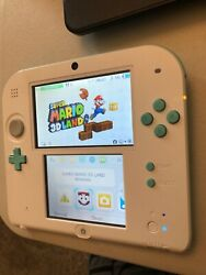 Nintendo 2ds Sea Green Iob Charger Works Well No Game Rare/great Color