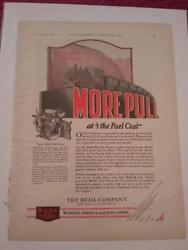 Vtg 1928 Ad Advertisement For Buda M.a.n. Diesel Engine In Plymouth Locomotive