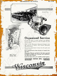 1923 Wisconsin Motors Of Milwaukee New Metal Sign Old Reliable Trucks Featured