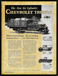 1930 Chevrolet Trucks New Metal Sign Utility Light Delivery And Roadster Truck