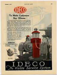 1920 Ideco Visible Gas Pumps Ad Ideco Visible Service System - Springfield, Il