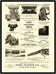 1898 Avery Planter Co. New Metal Sign Features Of Traction Engine Pictured