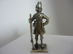 Stunning Rare Vintage Sterling Silver Grenadier Foot Guards1685 Soldier Statue