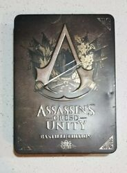 Assassins Creed Unity Bastille Edition Collectors Tin Pc Dvd Game Book Postcards