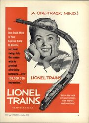 1953 Paper Ad Lionel Toy Train Sets Full Page Ad