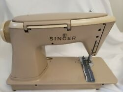 Singer 500a Slant-o-matic Sewing Machine Rocketeer Fully Serviced No Pedal/pwr
