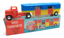 Vintage Laurie Toy Hong Kong Plastic Friction Horse Transporter Boxed