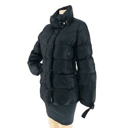 Bogner Women's Black Puff Goose Down Ski With Silver Hardware Jackets Size Us M