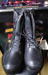 U.s G.i. Mickey Mouse Boots Bata 9 W Black, New A1 Usually Fits Size 10 Shoe